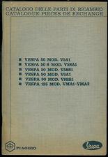 Catalogue Pieces PIAGGIO VESPA 50 V5 - 90 V9 125 Catalogo Parti di Ricambio 1968