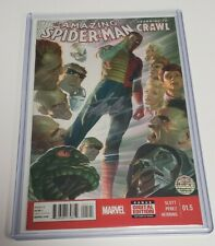 AMAZING SPIDER-MAN LEARNING TO CRAWL 1.5 Alex ROSS VARIANT SIGNED STAN LEE W COA