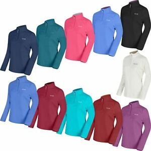 Regatta Womens Ladies Contrast Collar Half Zip Lightweight Micro Fleece Top New
