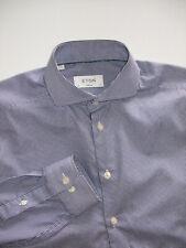 ETON SUPER SLIM   MINI PLAID   DRESS SHIRT  EUR 41 USA 16   EXCELLENT