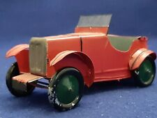 "Vintage Pre War Tin MG M Type Boat Tail Roadster Model Car 6 1/2"" RED RARE LOOK!"