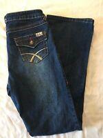 Seventeen Co. Women's Boot Cut Zipper Fly High Waist Denim Blue Jeans Size 7