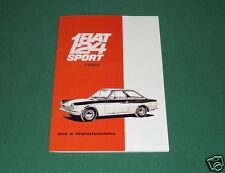 Uso e manutenzione FIAT 124 Sport Coupé - coupè prima serie