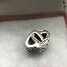 """Pandora """" Entwined Love Hearts  """" S925ale  Charm # 791880CZ"""