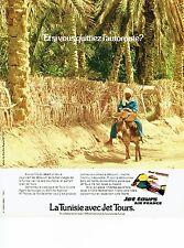 PUBLICITE ADVERTISING 037  1975  Jet Tours Air France  la Tunisie