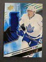 2018-19 Upper Deck SPX Materials Rookie #R-AJ Andreas Johnsson Toronto Jersey RC