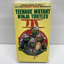 Factory Sealed Vhs TMNT Teenage Mutant Ninja Turtles III 1993