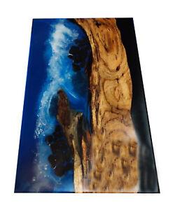 Living,Garden Resort Decorative Resin River Epoxy Furniture Wooden Walnut Table
