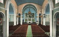 Postcard Interior and Altar St James Cathedral Seattle Washington