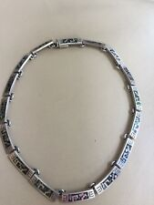 Necklace Juan Sandoval Vasquez Ts-79 Mexican Sterling Silver and Abalone shell