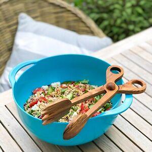 Olive Wood Salad Tongs / Salad Hands / BBQ Tongs