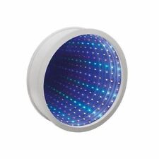 NEW ROUND INFINITY MIRROR LIGHT SENSOR TUNNEL RELAXING MOOD LED WALL DESK LAMP