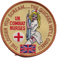 UK Combat Military Nurses Badge Embroidered Patch - LAST FEW