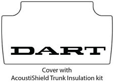 1962 1964 Dodge Dart Trunk Rubber Floor Mat Cover with MB-007T Dart Text