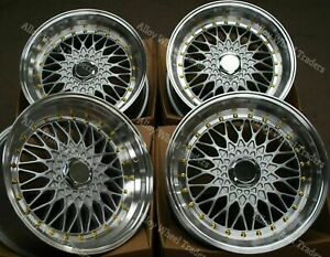 "16"" Silver RS Alloy Wheels Fits Vw Caddy Corrado Citygolf Golf Jetta up 4x100 GS"