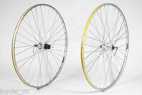 Mavic E2 And Wolber Super Champion Bicycle Wheels 36H With Shimano HB-6207 Hubs