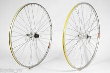 Vintage Mavic E2 And Wolber Super Champion Wheels 36H With Shimano HB-6207 Hubs
