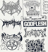 Decaying Visions Death Metal Videozine Dvd 1992 #3 Napalm Death Immolation Etc