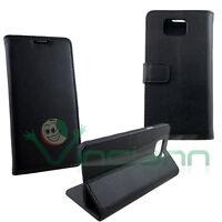 Custodia NERA per Samsung Galaxy Alpha G850F BOOKLET cover stand+tasche schede