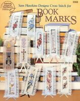 SAM HAWKINS BOOKMARKS   CROSS STITCH LEAFLET