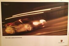 """Porsche""""This Is What A Winning Streak Looks Like""""Factory Car Poster!! Very Rare!"""