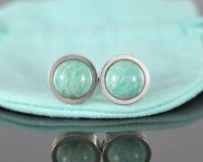 Rare Tiffany & Co Paloma Picasso Sterling Silver Amazonite Groove Cufflinks
