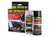 E-Tech Vehicle Headlight Tail Side Light Lens Tinting Kit Spray & Remover- Smoke