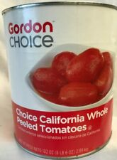 Gordon's Choice Whole Peeled California Tomatoes Lot of 1 -102 oz