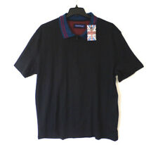 English Laundry Mens Size 2X Black Zip Neck Classic Fit Knit Polo Shirt New