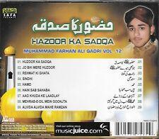 MUHAMMAD FARHAN ALI QADRI - HAZOOR KA SADQA - VOL 12 - NEW NAAT CD