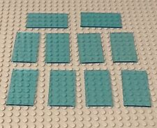 Lego X10 New Trans-light Blue Glass 1x4x6 For Windows Walls Bulk Parts Lot