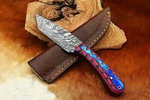MH KNIVES CUSTOM HANDMADE DAMASCUS STEEL FULL TANG SKINNER TANTO KNIFE D-14V