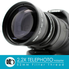 52MM 2.2X Telephoto Lens Adapter for Nikon D7100 D5500 D5300 D5200 D3300 D3200