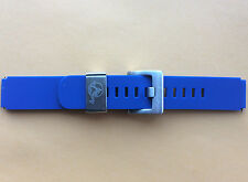 WATCH STRAP BAND 18MM SILICONE RUBBER BLUE STEEL LOOP FIT VOSTOK AMPHIBIAN