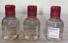 3X Bioderma Sensibio H2O Solution Micellaire Makeup Remover 3.33 fl. oz each New
