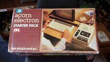 RARE VINTAGE ACORN ELECTRON STARTER PACK COMPUTER SYSTEM (MINT BOXED)