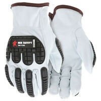 Mcr Safety 36136S Leather Gloves,White,S,Pk12
