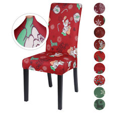 Christmas Santa Dining Chair Covers Xmas Party Chair Seat Slipcovers Table Decor