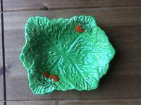 Vintage BESWICK WARE Green Lettuce Leaf & Tomato design Dish