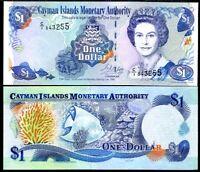 CAYMAN ISLANDS 1 DOLLARS 1998 P 21 UNC