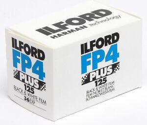 4 x ILFORD FP4 PLUS 125 135/36 schwarz/weiß vom Händler !! NEU/OVP ! FREIHAUS !