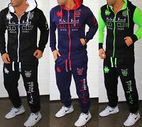 Herren Jogginganzug Jogging Hose Jacke Sportanzug Fitness Streetwear Polo Club