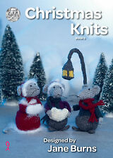 King Cole Christmas Knits Book 5 Wreath Bauble Mice Tea Cosy Knitting Pattern