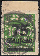DR Dienstmarke Mecklenburg Mi.Nr. 16 a I gestempelt geprüft Mi.Wert 50€ (6757)