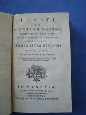 I FASTI DI P. OVIDIO NASONE TRADOTTI IN TERZA RIMA DA GIAMBATTISTA BIANCHI-1781