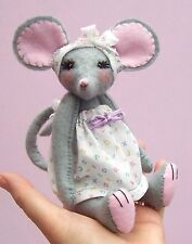 Miss Stitch Soft Toy Mouse Sewing Pattern and Felt Kit by Pcbangles