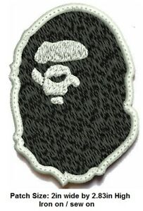 **LOVE IT OR ITS FREE** Bape Ape Never kill Iron-on/sew on Patch