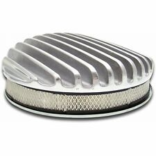 """Vintage 14"""" Round Deep Full Finned Air Cleaner and Element VPACB143 truck custom"""
