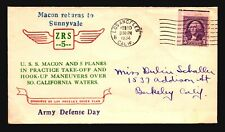 USS Macon 1934 Army Defense Day Cachet (268 Covers) - Z18985