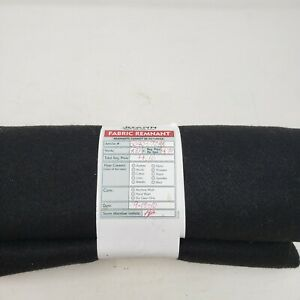 Black Wool Felt Fabric .75 Yards Remnant JoAnn Fabrics 2010 0040-7288
